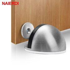 Stainless Steel Rubber Magnetic Door Stopper Non Punching Sticker Hidden Door Ho