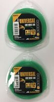 2 X MCCULLOCH UNIVERSAL LOW NOISE STRIMMER TRIMMER LINE 2mm x 15 metres NLO013
