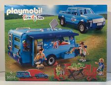 PLAYMOBIL 9502 Family Fun Pickup Truck & Caravan Minifigures Camper Jeep Car Van