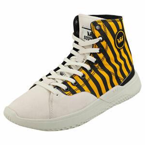 Supra Statik Caution Mens Yellow Black Fashion Trainers - 8 UK