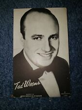 Ted Weems 1940's-50's Mutoscope Music Corp of America Postcard