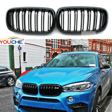 Gloss Black Front Hood Kidney Grille Grills Grill for BMW X5 F15 X5M  2015 16 17