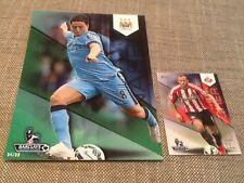 Samir Nasri Manchester City /99 Green Topps Premier Gold 2014 5x7 art card #75