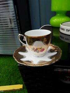 Small Bavarian Delicate China Tea Cup And Saucer