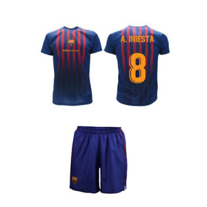 Complet Iniesta 2019 Barcelona Officiel Barcelone 2018 Fcb Maillot Pantalon