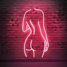 Naked Lady Real Glass Neon Light Sign Wall Sign Art Decorative Home Bedroom Room