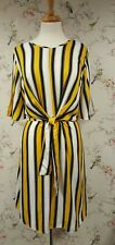 BNWT Dorothy Perkins Cream striped Print Tie Detail Dress (Size 14)