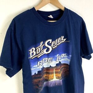 Bob Seger Silver Bullet Band 2014 Ride Out Double Sided Tour T Shirt Men's L
