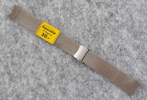 Vintage NOS Expandro Watch Mesh Bracelet Strap - Steel - 17mm - Germany 1970s