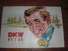 Prospekt Sales Brochure DKW RT 125 Motorrad Moped Mokick 6,4 PS   автомобиль