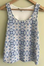 *FOREVER NEW* Womens Silky Floral Print Front/white Back Tank Top Size 4