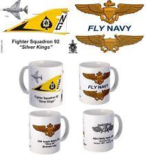 """VF-92 """"Silver Kings"""" F-4 Phantom II mug (1972-1975)."""