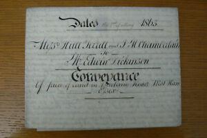 1863 VICTORIAN DEED , BARKING RD , WEST HAM , ESSEX