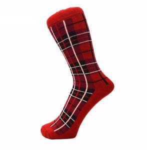 Men & Women Cotton Rich Tartan Checked Pattern Ankle Socks