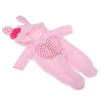 Doll Hoody Jumpsuit for 25cm Mel-Chan Dolls Jumpsuit Rabbit Hat Outfits