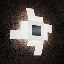 Plafoniera in vetro bianca e nera moderna a 4 luci tpl 1121/55-NE