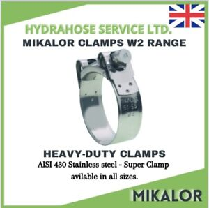 MIKALOR Hose Clamps W2 Supra Exhaust Clamp T Bolt Silicone Hose Stainless Band