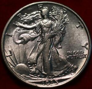 Uncirculated 1935 Philadelphia Mint Silver Walking Liberty Half