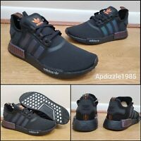 Adidas NMD R1 Reflective Xeno Black FV8025 Boost Sneakers Mens Size 10