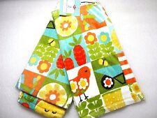 Ritz Garden Kitchen Towel 100% Cotton Set 2 Flowers Bird Watering Can Cotton A