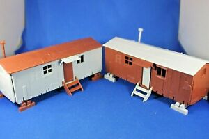 Plasticville - O-O27 - #45983 - 2 Railroad Work Cars Only - Excellent+++++