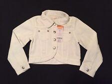 NWT Gymboree Girls Sunny Citrus White Denim Jacket Size XS (4)