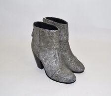 RAG AND BONE 'Newbury' Bootie Metallic Black Gray Textured Sz 8.5 US / 38.5 EU