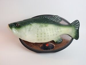 Big Mouth Billy Bass Fishin' Time Gemmy Works New Batteries Wall or Tabletop