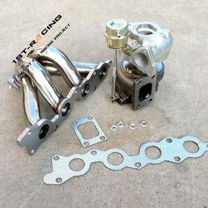Turbo Manifold + Turbocharger T25T28 AR 0.64 For Suzuki Swift GTi G13B 1.3L