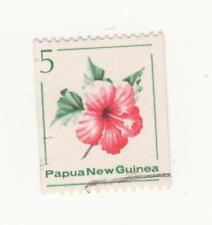 Flowers Used Papua New Guinean Stamps