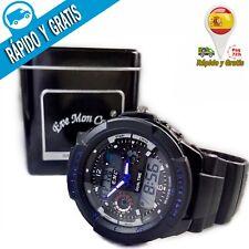 Reloj Hombre Deportivo Digital Resistente Agua ABS Shock Dual Multifunción LED
