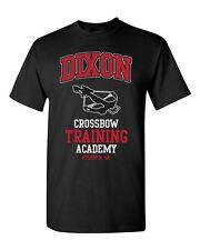 Dixon BALESTRA Accademia T-Shirt-Divertente T Shirt Retrò Che Cammina Daryl Morto Zombie