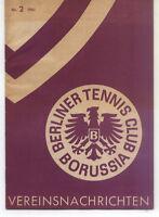 Tennis Borussia Berlin - Vereinsnachrichten - März 1961