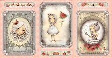 .6 Yard Cotton Fabric - Quilting Treasures Santoro La Vie En Rose Panel Pink