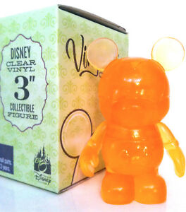 """DISNEY VINYLMATION 3"""" CLEAR SERIES BRIGHT ORANGE 2009 COLLECTIBLE TOY FIGURE NEW"""