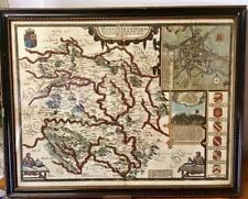 1620 Original 17th century JOHN SPEED MAP of HEREFORDSHIRE Hand Coloured