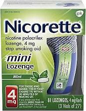 Nicorette 4mg Nicotine Mini Lozenge - Mint, Pack of 81 EXP. 10/21