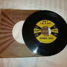 ROCKABILLY 45 RPM RECORD - RONNIE SELF - COLUMBIA 40989 - W/COMPANY SLEEVE
