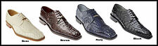 Belvedere Chapo Genuine Crocodile Men's Oxford Dress Shoes Black,Brown,Gray.Navy