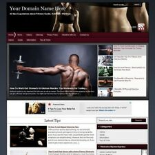 Fitness Online Affiliate Business Website For Sale! Free Domain Name + Hosting!