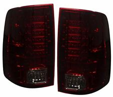 09-17 Dodge Ram 1500 Smoke Red Len Full Replacement Led Brake Tail Lights Lamps