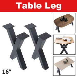 16'' Table Hairpin Legs Metal Desk Bench Legs Coffee Solid Iron Black Furniture