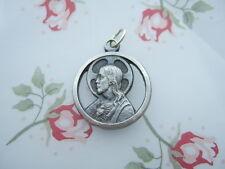 Catholic Medal SACRED HEART Scapular Our Lady Mount Carmel Cutout Silver finish
