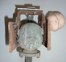 Vintage Industrial Copper Doll Head Mold Steampunk Industrial Decor
