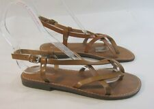 Summer Tan Womens Shoes Roman Gladiator Sandals Size 6.5