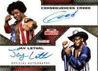 TNA Jay Lethal Consequences Creed 2009 Impact GOLD Dual Autograph Card SN 36 /60