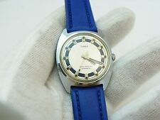 "TIMEX,60's,Self-Winder,""Automatic""Blue on Blue Ring Dial,N-MINT MEN'S WATCH 1547"