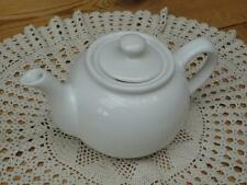 White Ceramic Teapot Traditional Design Serving Kitchenalia C5