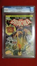 Tomb of Dracula #14 CGC 7.5 OW to White Pages Blade App Case Cracked at Top Back