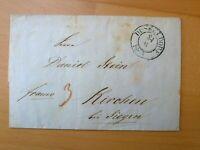 Vorphilabrief Preußen 1844, Stempel DÜSSELDORF -> KIRCHEN/SIEGEN, Inhalt 1020